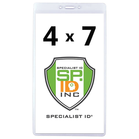 "3 5/8"" X 5 1/2""  Clear Vertical Large Event Badge Holder (P/N 306-46)"