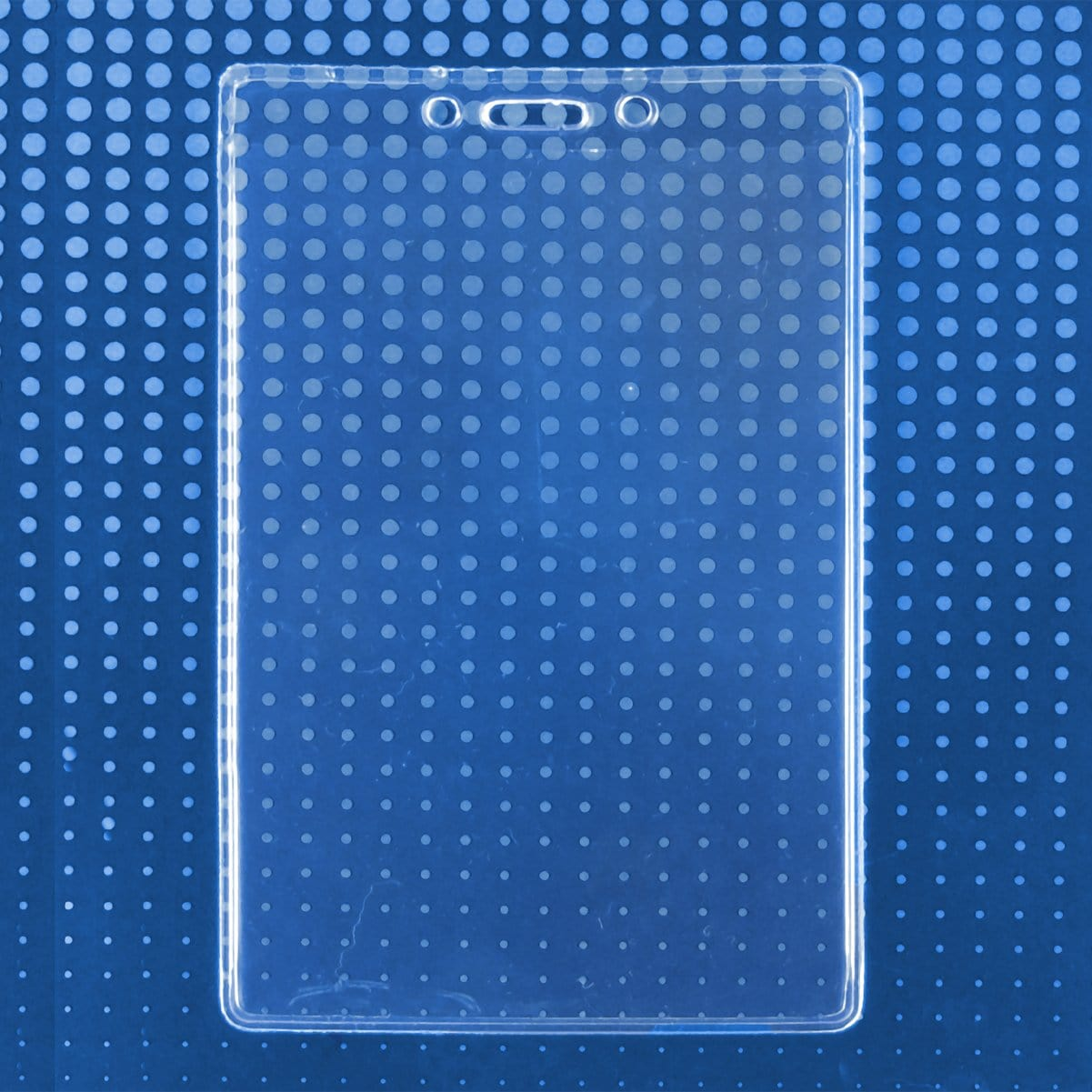 "3 7/8"" X 5 1/2"" Clear Vinyl Vertical Extra Large Badge Holder (P/N 506-46)"