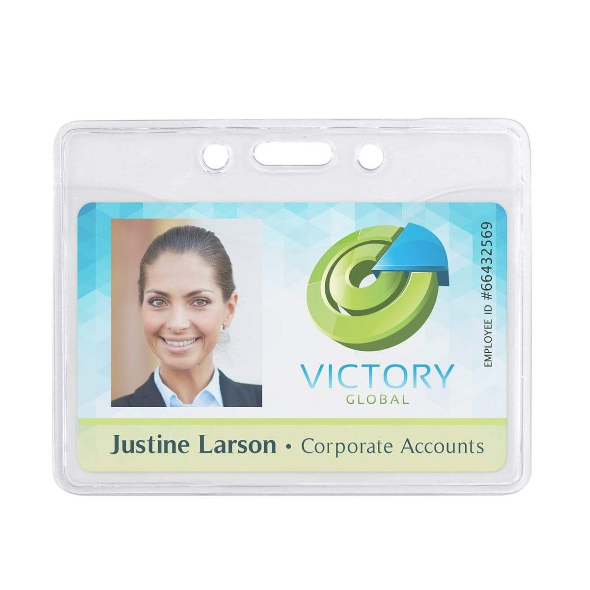 Horizontal Premium Clear Vinyl ID Badge Holder (P/N 506-T1)