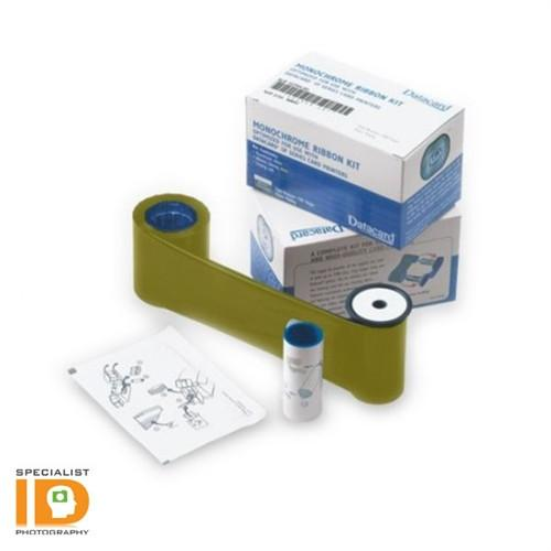 Datacard 532000-007 Gold Monochrome Ribbon & Cleaning Kit