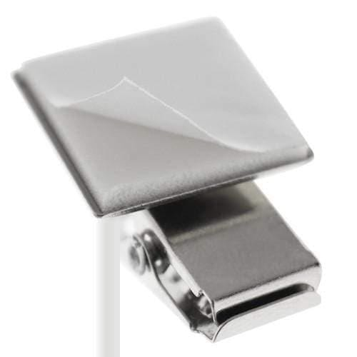 Pressure-Sensitive Nickel-Plated Clip, 1-Hole Ribbed Face (P/N 5735-2000)