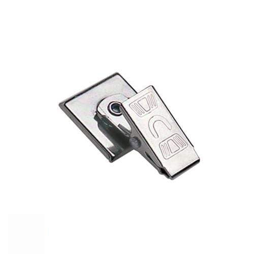 "Pressure-Sensitive Nickel-Plated Clip, Embossed ""U"" Bulldog Clip 5735-2100"