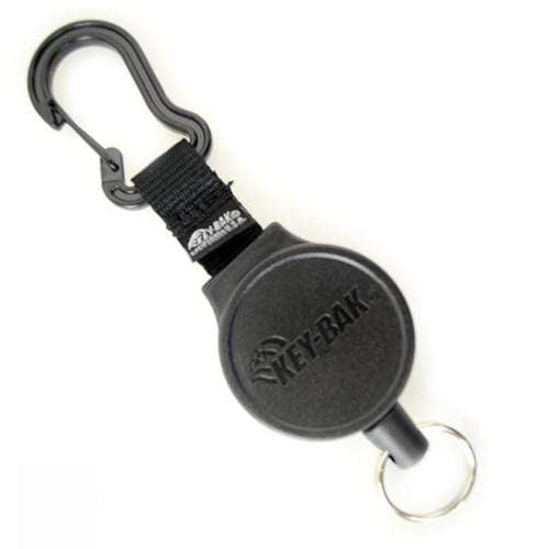 Key-Bak Mid Size Carabiner Badge Reel with Key Ring (6C)