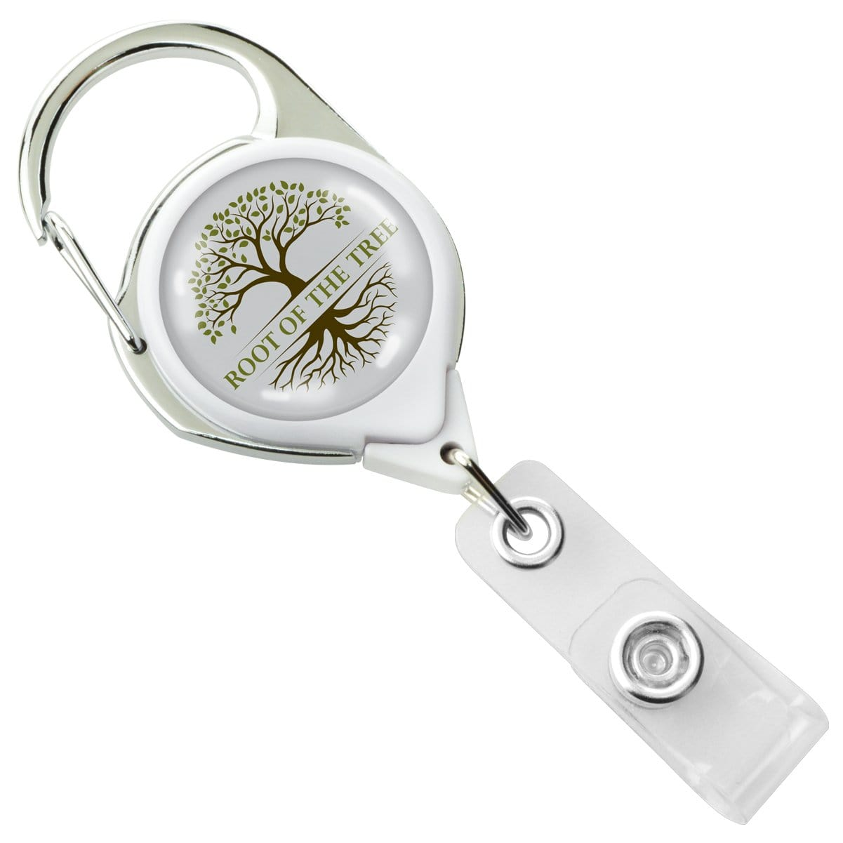 Custom Printed No Twist Carabiner Badge Reel With Belt Clip - Upload Your Logo