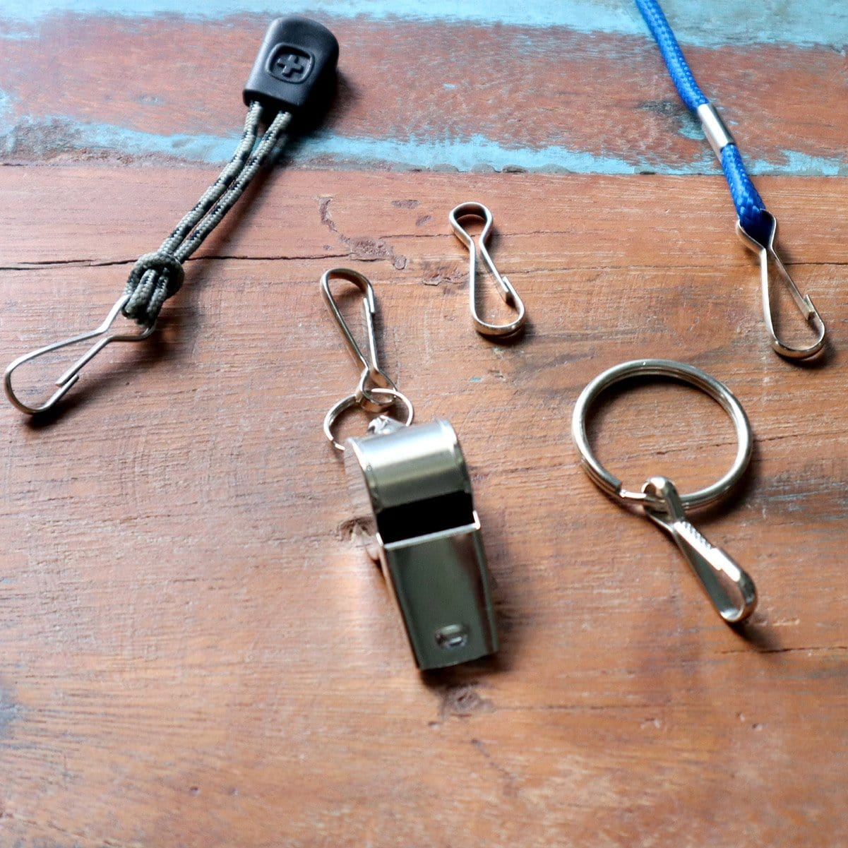 "Small Metal J Hook Spring Clips - 1 1/4"" for DIY Lanyards & Keychains (6920-2350)"
