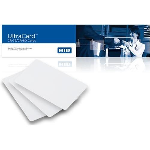 FARGO 82267 CR-80, 10mil Blank White PVC Cards with 14mil Mylar Adhesive Back