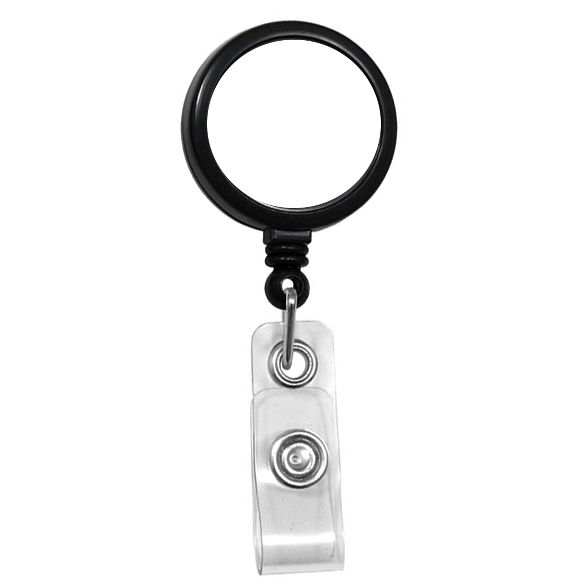 Custom Max Label Badge Reel with 1 Inch Smooth Face and Swivel Spring Clip