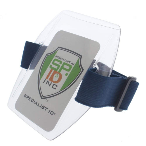 Vertical Armband ID Badge Holders with Velcro Strap (ABH-V)