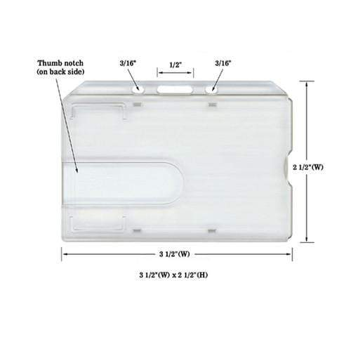 Side Load Rigid Clear Horizontal Badge Holder (AC-913)