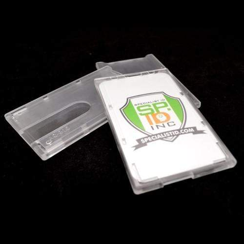 Top Load Rigid Clear Vertical Badge Holder (AC-915)
