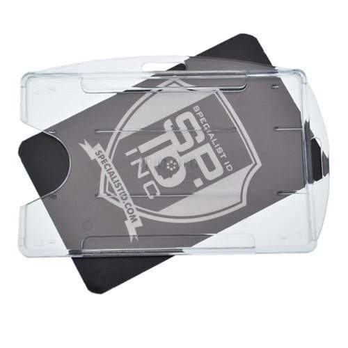 Rigid Open-Faced Single ID Card Holder (P/N AH-075)
