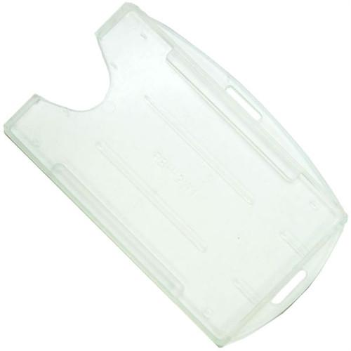 Order Online, Rigid Open-Faced Clear Single ID Card Holder (P/N AH-075-CL)