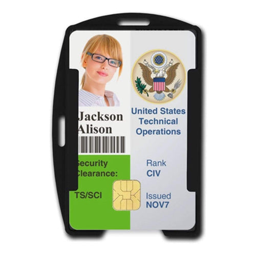 SkimSAFE FIPS 201 RFID Blocking 2-Card ID Holder (AH-210)