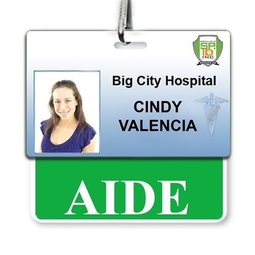 AIDE Horizontal Badge Buddy with Green Border