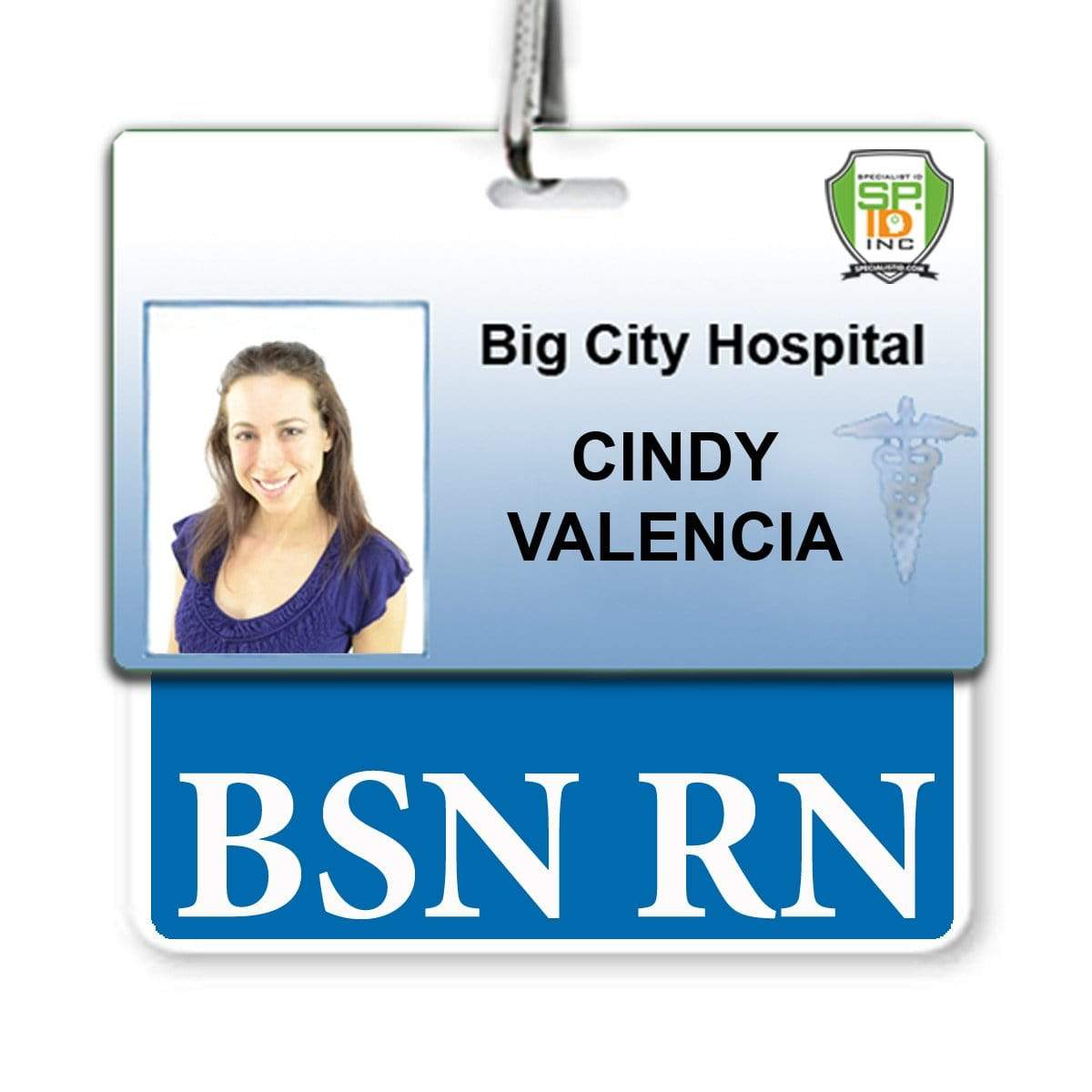 BSN RN Registered Nurse Horizontal Badge Buddy - 2 Sided ID Backer for BSN Registered Nurses