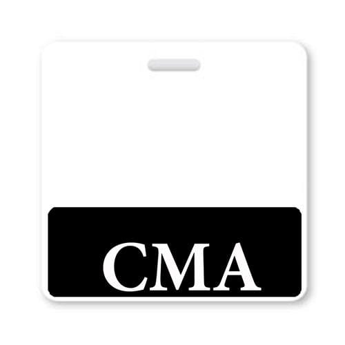 """CMA"" Horizontal Badge Buddy with Black Border"