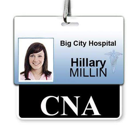 """C.N.A."" Horizontal Badge Buddy with Red Border"