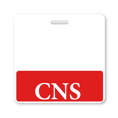 """CNS"" Horizontal Badge Buddy with Red Border"