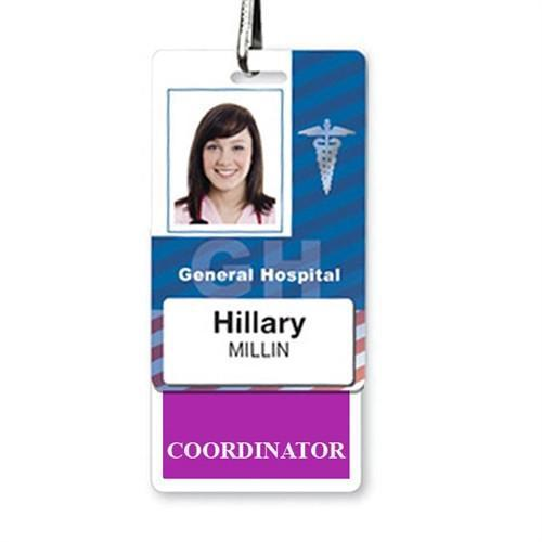 COORDINATOR Vertical Badge Buddy with Purple Border