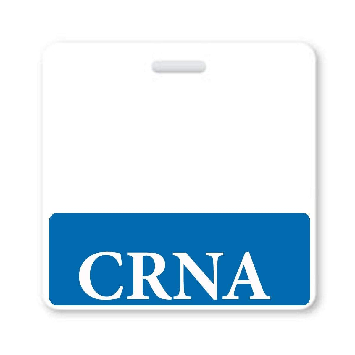 CRNA Horizontal Badge Buddy with Blue Border