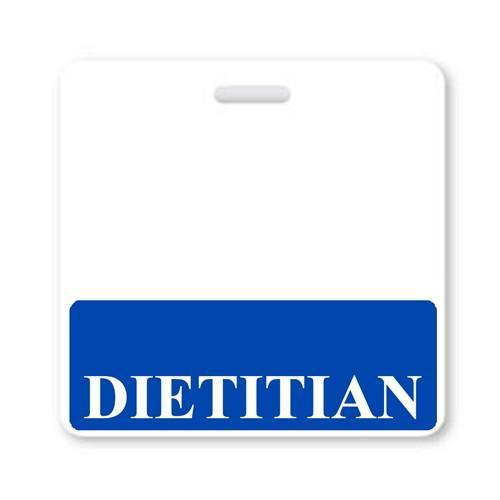 """DIETITIAN"" Horizontal Badge Buddy with Blue border"