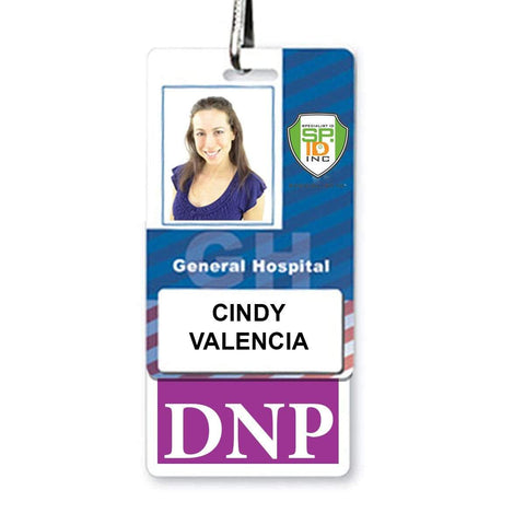 CRNA Vertical Badge Buddy with Black Border