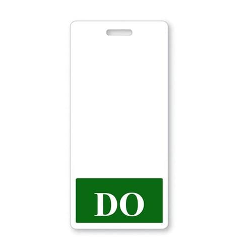 DO Vertical Badge Buddy with DARK GREEN Border