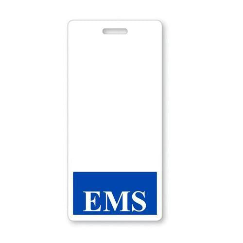 EMS Vertical Badge Buddy with Blue Border