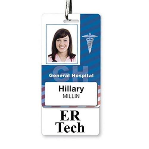 ER TECH Vertical Badge Buddy with White Border