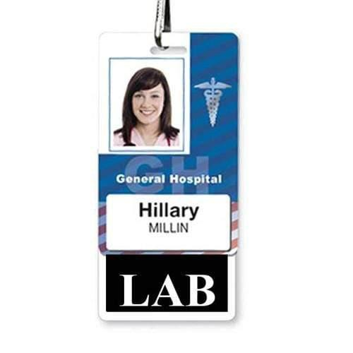 LAB Vertical Badge Buddy with Black Border