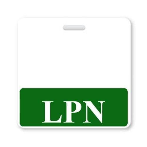 LPN Horizontal Badge Buddy with Green Border