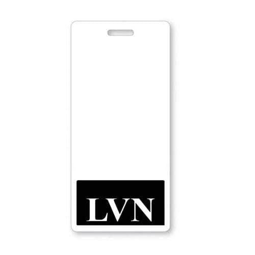 LVN Vertical Badge Buddy with Black Border