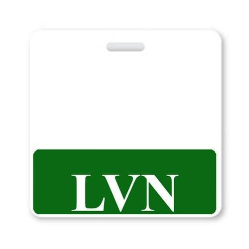 """LVN"" horizontal Badge Buddy with Green Border"