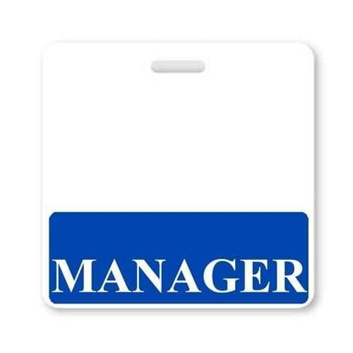 MANAGER Horizontal Badge Buddy with Blue Border