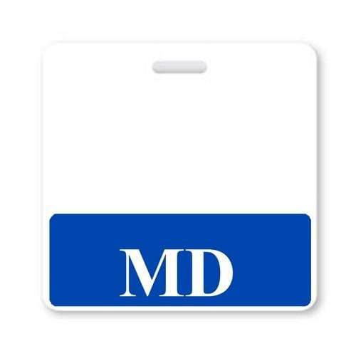 MD Horizontal Badge Buddy with Blue Border
