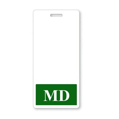 MD Vertical Badge Buddy with DARK GREEN Border