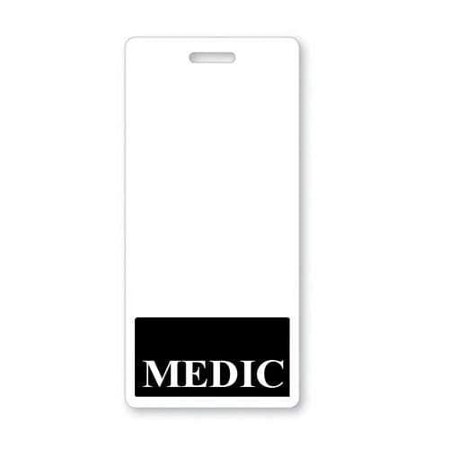 MEDIC Vertical Badge Buddy with BLACK Border