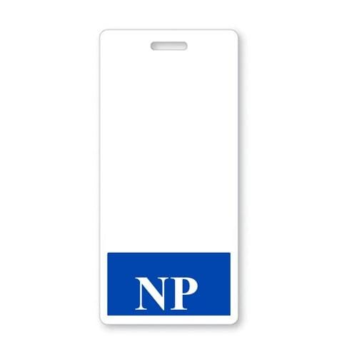 NP Vertical Badge Buddy with BLUE Border