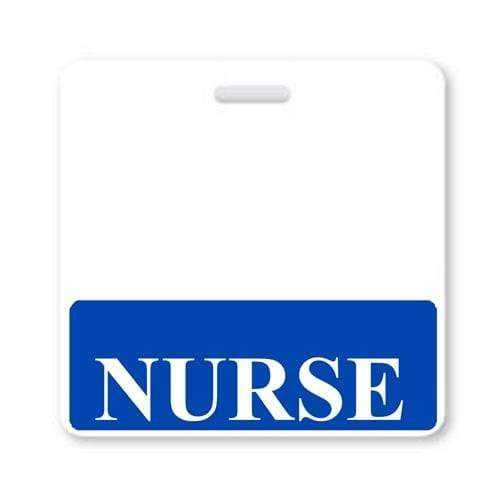 NURSE Horizontal Badge Buddy with Blue Border