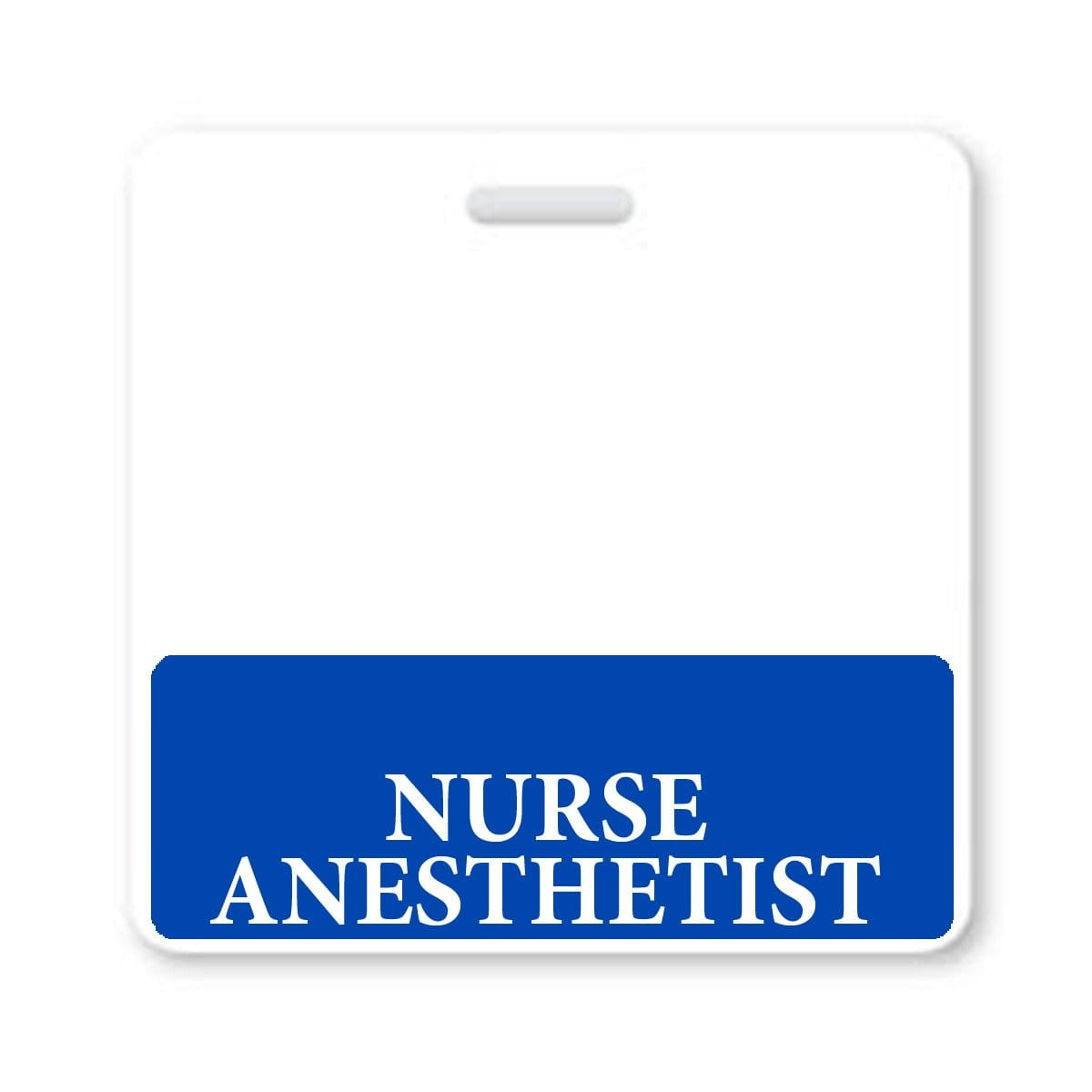 Nurse Anesthetist Horizontal Badge Buddy with Blue Border