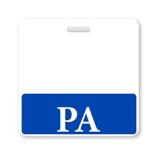 PA Horizontal Badge Buddy with Blue Border