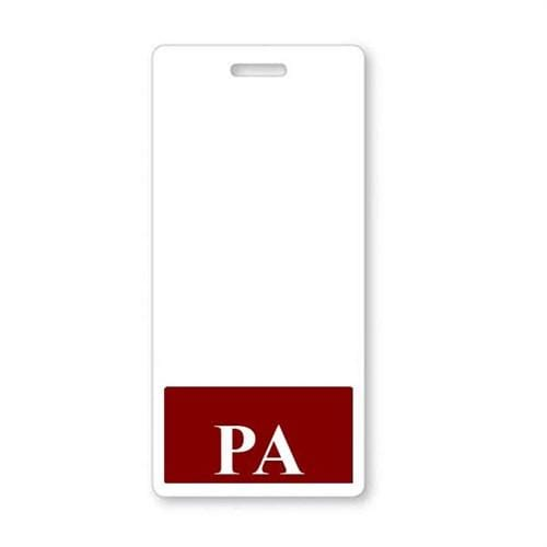 PA Vertical Badge Buddy with Maroon Border