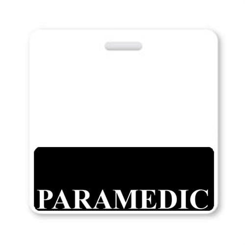 PARAMEDIC Horizontal Badge Buddy with BLACK Border