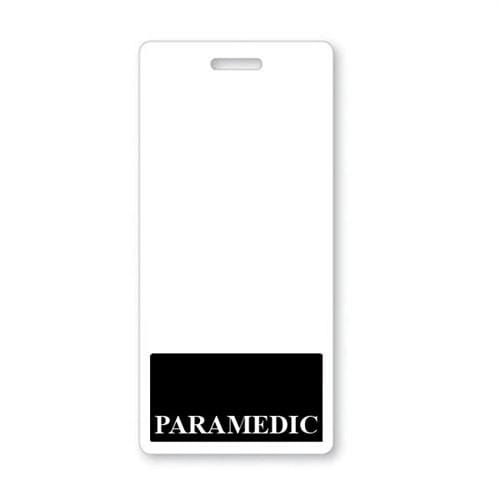 PARAMEDIC Vertical Badge Buddy with BLACK Border