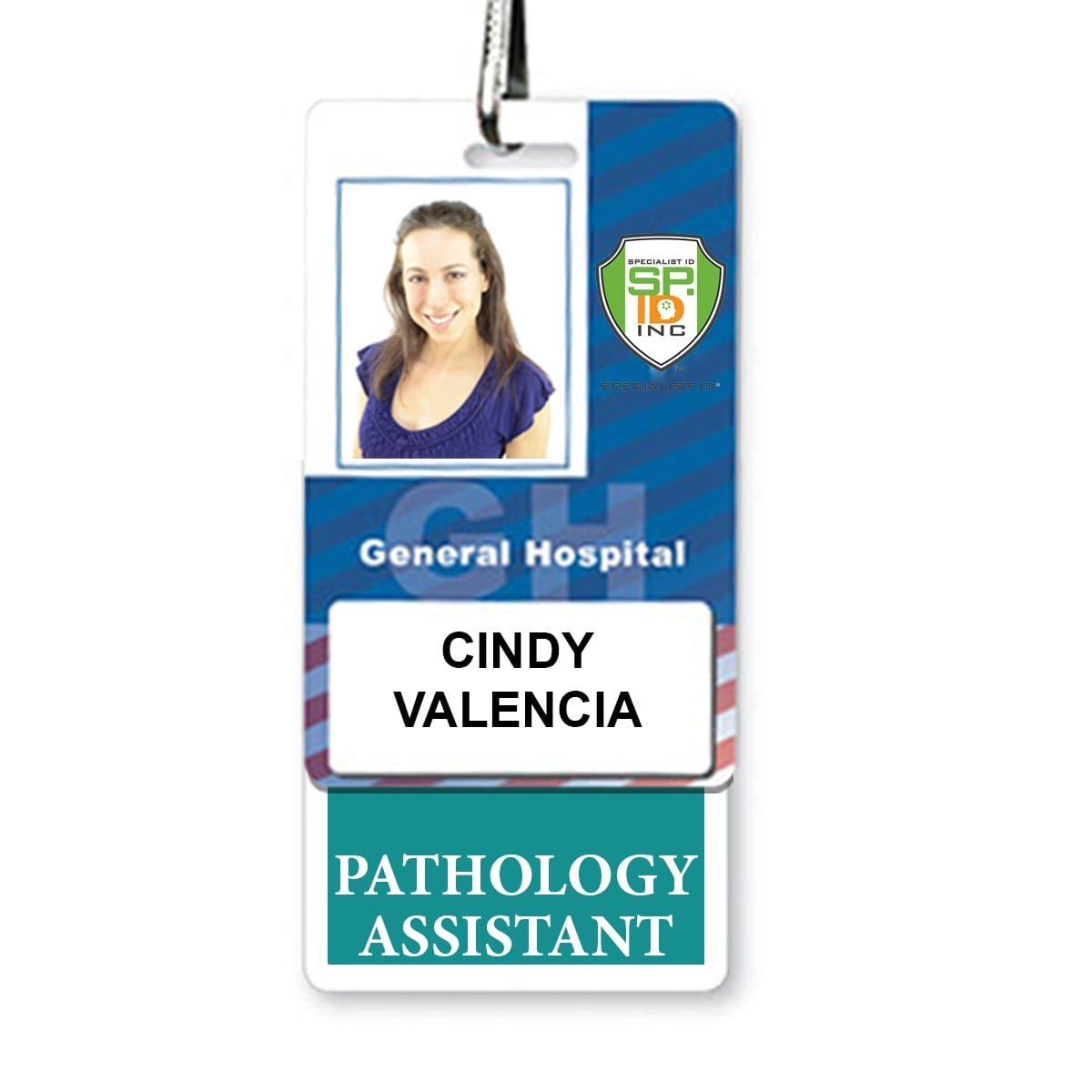 PATHOLOGY ASSISTANT Vertical Badge Buddy with Teal border