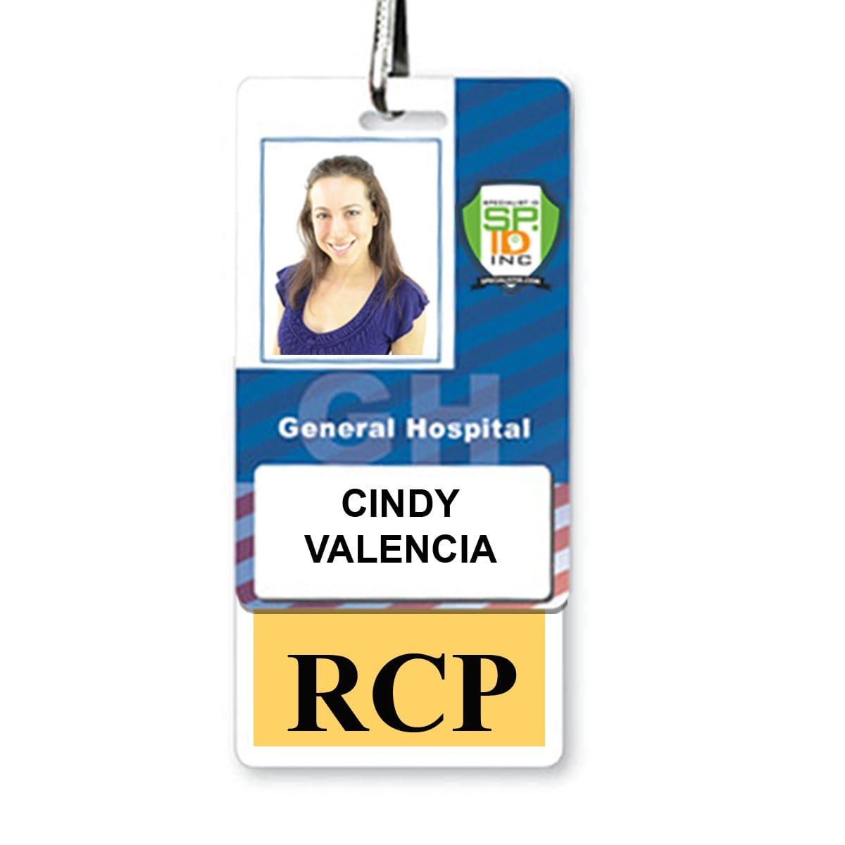 RCP Vertical Badge Buddy with Yellow Border