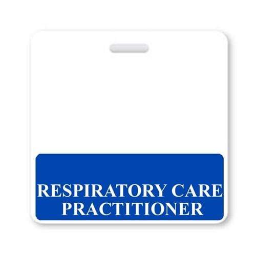 RESPIRATORY CARE PRACTITIONER Horizontal Badge Buddy with Blue Border