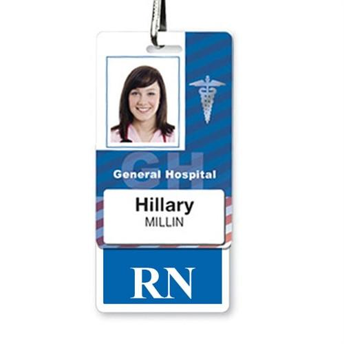 """RN"" Registered Nurse Vertical Hospital ID Badge Buddy"