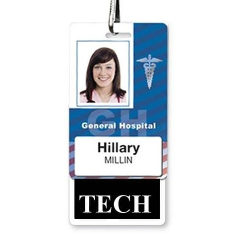TECH Vertical Badge Buddy with Black Border