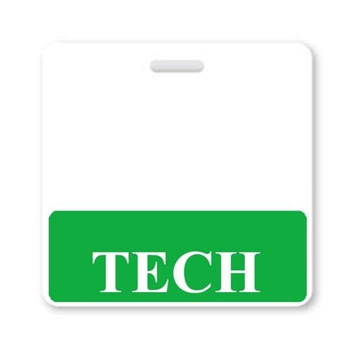 TECH Horizontal Badge Buddy with GREEN Border
